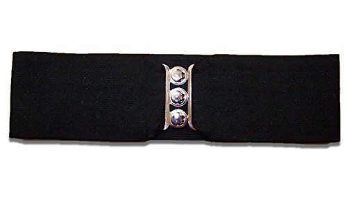 "50'S Child 3"" Black Elastic Cinch Belt (Xs)"