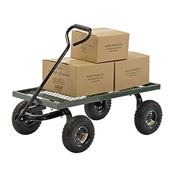 Sandusky Lee FW Steel Crate Wagon, Green, 1000 lbs Load Capacity, 14-1/4