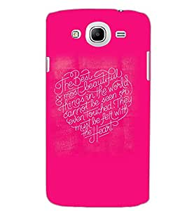 SAMSUNG GALAXY MEGA 5.8 HEART TEXT Back Cover by PRINTSWAG
