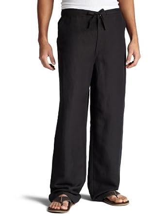 Cubavera Men's Drawstring Pant With Back Elastic,Black,Small