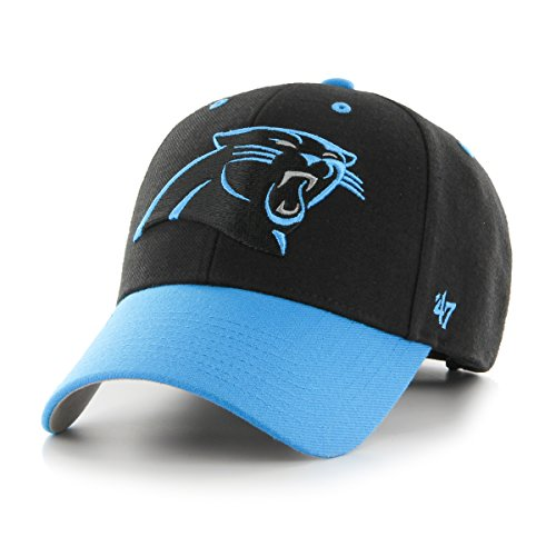 NFL Carolina Panthers Audible Two Tone MVP Hat, One Size, Black