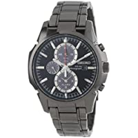 Seiko Men's Alarm Chronograph Quartz Dual Time Stainless Steel Watch