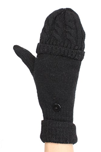 LL Ca (Adult Short Fingerless Black Gloves)