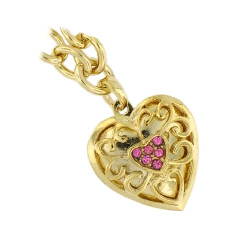 "Locket Bracelets 7.5"" 18K Gold Plated Cz Pink"