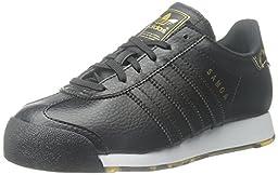 adidas Originals Samoa Sneaker (Little Kid/Big Kid), Black/Black/Gold, 12 M US Little Kid