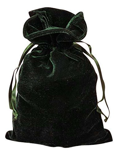 "Tarot Bags: Hunter Green Luxury Velvet 6"" X 9"""