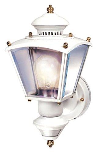 Heath Zenith SL-4150-WH 150-Degree Motion-Activated Charleston Coach Decorative Lantern, White