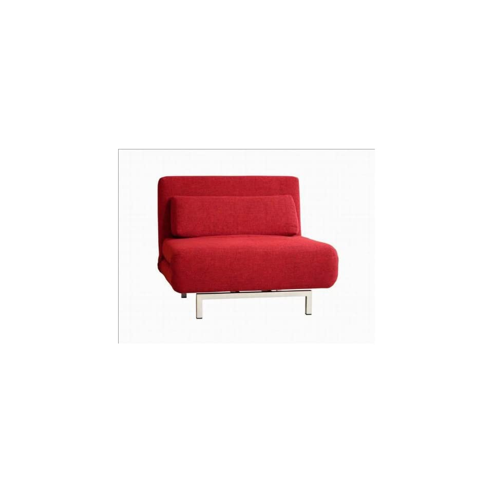 Sensational Amiens Convertible Accent Chair Bed In Red On Popscreen Dailytribune Chair Design For Home Dailytribuneorg