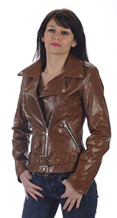 leather crow blouson cuir femme perfecto couleur camel taille xxxl. Black Bedroom Furniture Sets. Home Design Ideas