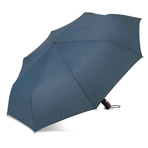 41UbY9rBsAL 「PLEMO 傘 自動開閉折り畳み傘 ネイビーブルー」レビュー!置き傘なのにこのサイズ!カッコいい自動開閉機能付き!