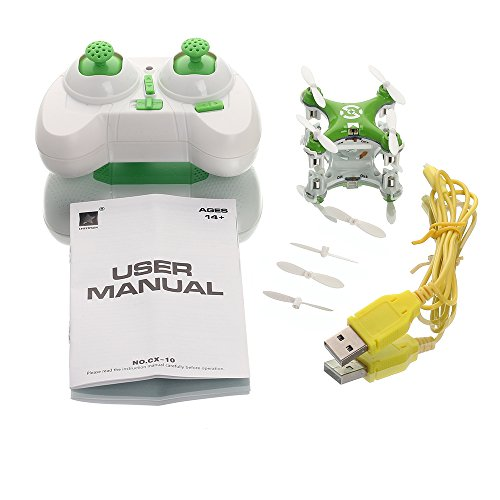 oneCase-Cheerson-CX-10-29mm-4-Channel-24GHz-Radio-Control-RC-Mini-Quadcopter-Helicopter-Drone-6-Axis-Gyro-UFO-with-LED-Flash-Light-Green