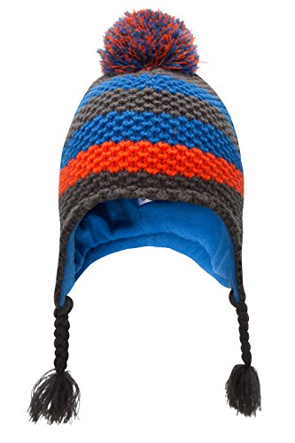 Mountain Warehouse Cappello Peruviano per bambini Jacquards Cobalto