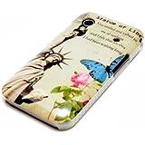 deinPhone Samsung Galaxy Ace 1 S5830 HARDCASE Hülle Case Freiheitsstatue Rosa Blume