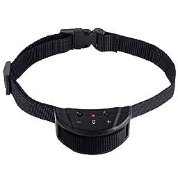 Vastar VD285 Dog No Bark Collar Electric Anti Bark Shock Control with 7 Levels Button Adjustable Sensitivity Control, Stimulation of No Harm Warning Beep & Shock for 15-120 lb Dogs