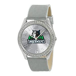 Minnesota Timberwolves Ladies Watch - Designer Diamond Watch by Game Time