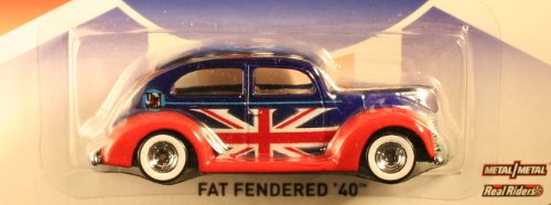 2013 the Who Hot Wheels (Collector's Edition) Fat Fendered '40 (Ford) Metal / Metal Real Riders Toy Car By Mattel - 1