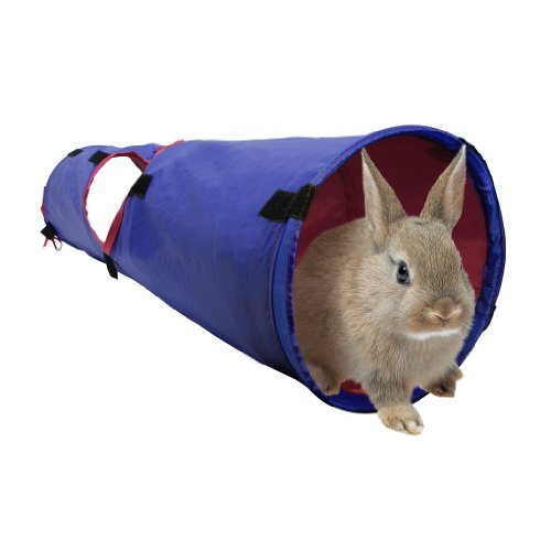Hagen Living World Pet Tunnel, Blue/Red front-1054825