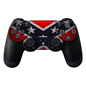 Protective Vinyl Skin Decal Cover for Sony PlayStation DualShock 4 Controller Sticker Skins Rebel Flag