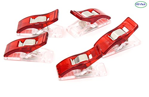 New iExcell®Wonder Clips, Red, 100-Pack (100 Pcs)