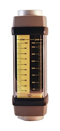 Hedland Flowmeter, Aluminum, For Use With Oil and Petroleum Fluids, SAE