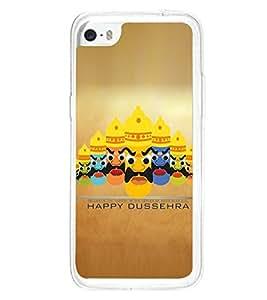 Fuson Premium Happy Dussehra Metal Printed with Hard Plastic Back Case Cover for Apple iPhone 5C