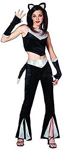 Too Cool Teen Panther Seq Costume Set 5pc Teen 14-16