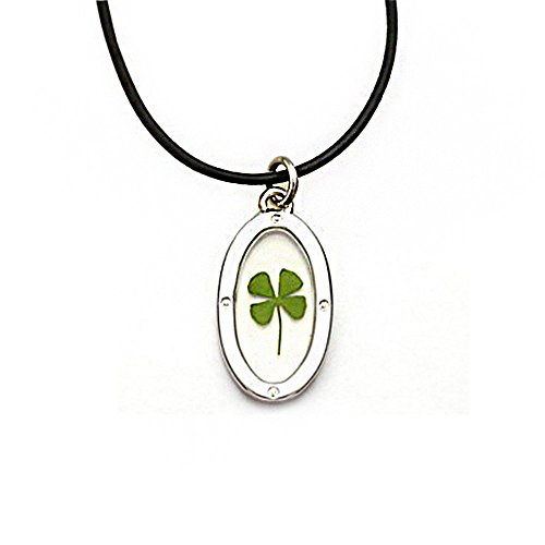 black-cord-real-irish-four-leaf-clover-good-luck-symbol-clear-oval-shaped-pendant-necklace-16-18