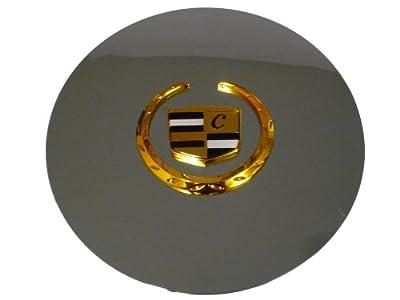Set of 4 Otis Inc LA Cadillac Escalade Chrome Wheel Center Cap with Gold Wreath and Crest