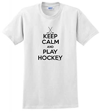 Keep Calm and Play Hockey T-Shirt by ThisWear