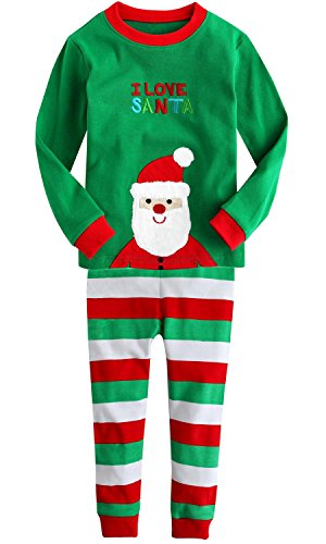 baby Joe Christmas Santa 2 Piece Pajamas Set, Green, (95cm) 3 (Toddler One Piece Thermal Pajamas compare prices)