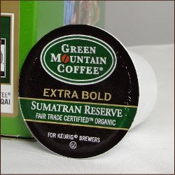 Sumatran Reserve Fair Trade & Organic By Green Mountain 120 K-Cups For Keurig Brewing Systems