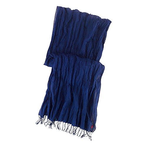 (ポロ ラルフローレン)POLO RALPH LAUREN スカーフ Crinkled Cotton Scarf ネイビー Newport Navy 【並行輸入品】