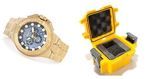 Invicta One Slot Dive Case with Reserve 50mm Excursion Excalibur Swiss Quartz Chronograph Distressed Gold Tone Stainless Steel Bracelet Watch 17865 (Excalibur Invicta compare prices)