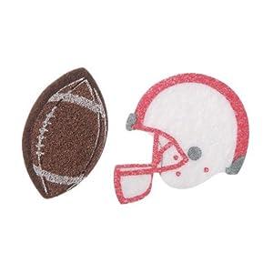 Bulk Buy: Darice Crafts for Kids Felties Felt Stickers Football 40 pieces (3-Pack) FLT-1020