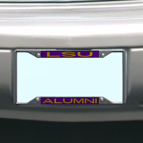 NCAA LSU Fightin Tigers License Plate Frame Alumni (Louisiana License Plate Frame compare prices)