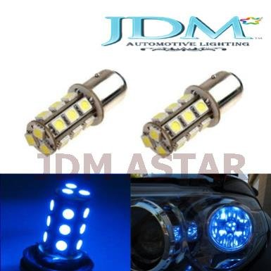 Jdm Astar 18-Smd 1157 2357 7528 Led Turn Signal Light Replacement Bulbs, Ultra Blue