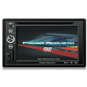 Power Acoustik PTID-6250 In Dash DVD AM-FM Receiver with 7-Inches Flip Out Touchscreen Monitor with USB/SD Input