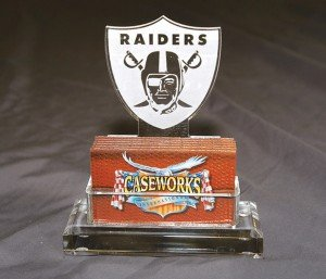 NFL Oakland Raiders Business Card Holder in Gift Box by Caseworks