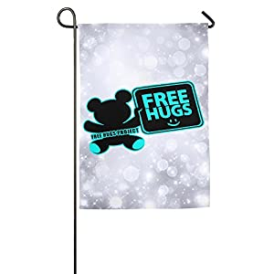 Particular Colored Free Hugs Project Bear Beautiful Durable House Flag.