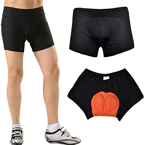 Great Features Of OuterStar Men/Women 3D Gel Padded Coolmax Bike Pants Bicycle Cycling Underwear Sho...