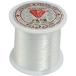 0.2mm Diameter Clear Nylon Fish Fishing Line Spool Beading String by Como