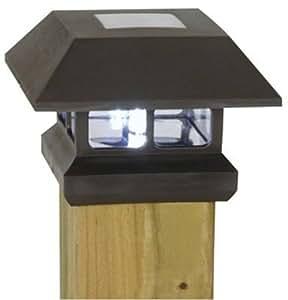 Moonrays 91249 Solar Powered Plastic Post Cap Lamp Light (Black)