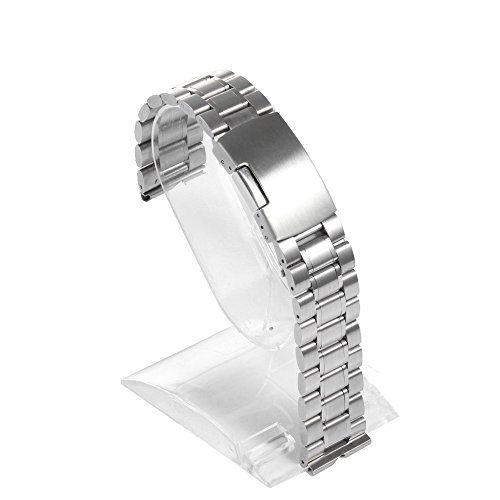 Happy Hours® Stainless Steel Bracelet Metal Watchband for Moto 360 Smartwatch Motorola Moto 360 Watch Band Strap Plus Free Installation Tools, Silver