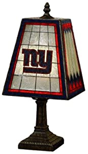 NFL New York Giants 14 Inch Art Glass Lamp by The Memory Company