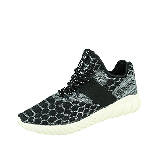 Passionow-Mens-Fashion-Sneaker-Breathable-Athletic-Lace-Up-Elastic-Running-Shoes