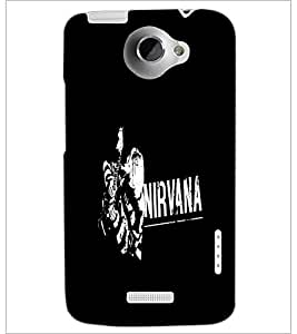 PrintDhaba Nirvana D-2405 Back Case Cover for HTC ONE X (Multi-Coloured)