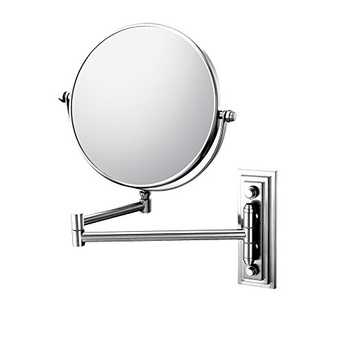Mirror Image 20845 Classic Double Arm Wall Mirror, 1X And 5X Magnification, Chrome front-751763