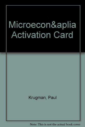 Microeconomics & Aplia Activation Card
