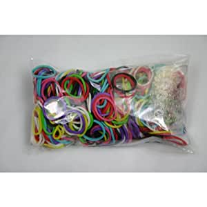 Official Rainbow Loom 600 Rainbow Refill Bands w/ C Clips