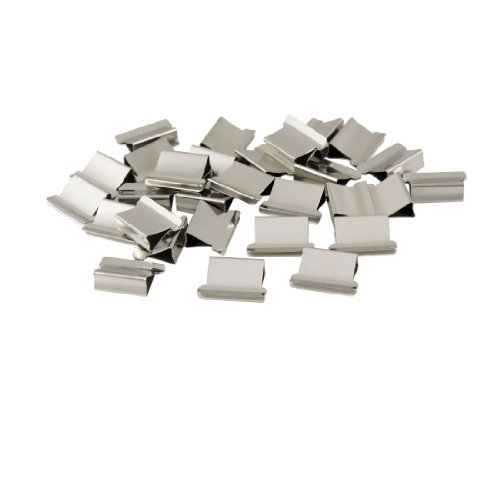 uxcell® 30 Pcs T-225 Office Stationery Metal Clip Clamp Dispenser Refill